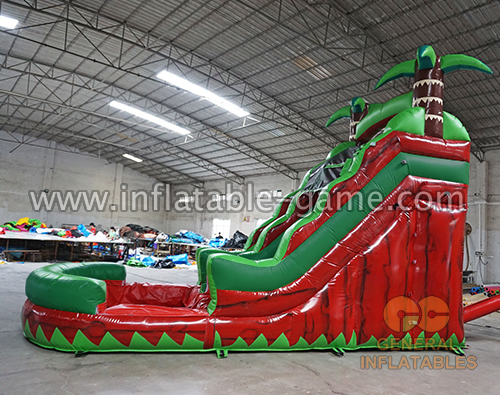 Jungle trees water slide